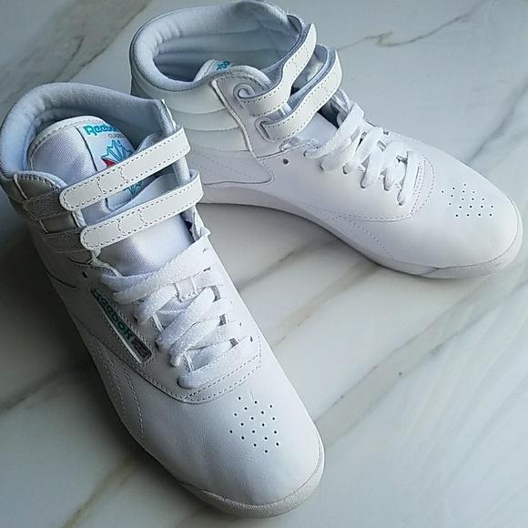 b965b13b22 US 8 Reebok Classic Freestyle Hi Shoes White